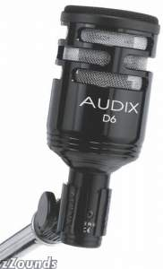 Audix D6 Large Format Bass Drum Microphone