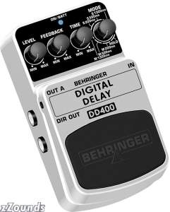 Behringer DD400 Stereo Digital Delay Echo Pedal