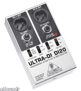 Behringer DI20 Ultra-DI 2-Channel Active DI Box/Splitter