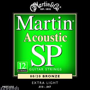 Martin MSP3600 SP 12-String 80/20 Bronze Acoustic Guitar Strings (Extra Light, 10-47)