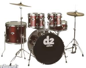 DDrum D2 5-Piece Drum Kit with Phat Wrap