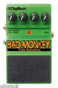 DigiTech Bad Monkey Tube Overdrive Pedal