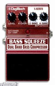 DigiTech Bass Squeeze X-Series Dual Compressor Pedal