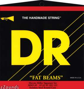 DR Strings MM45 Fat Beam Marcus Miller Bass Strings (Medium, 45-105)