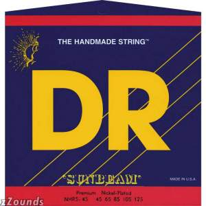 DR Strings MR545 Hi-Beam 5-String Electric Bass Strings (Medium, 45-125)
