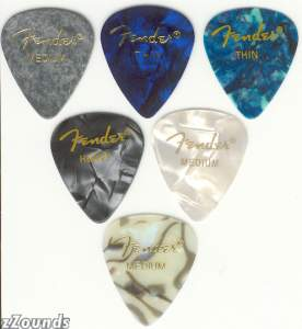 Fender 351 Premium Celluloid Pick (Thin, 12 Pack)
