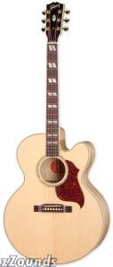 Gibson J-185EC Blues King Electro Jumbo Cutaway Acoustic-Electric Guitar (with Case)