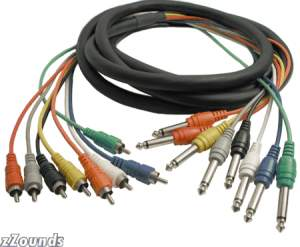 Hosa Multi-Track Snake Cables (RCA to 1/4 inch Phone x 8)