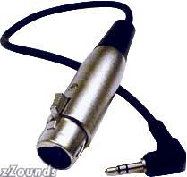 Hosa Angled 1/8 in. Stereo to Female XLR Cable