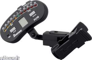 Ibanez PU10 Guitar and Bass Clip-On Tuner