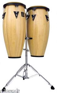 Latin Percussion LPA646 Aspire Conga Set with Double Stand