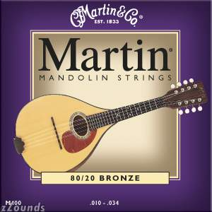 Martin M400 Bronze Mandolin Strings (Light, 10-34)