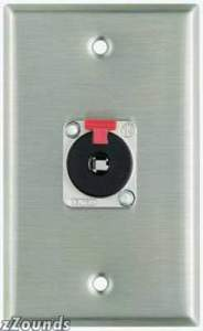 Pro Co Wall Plate with Single Female 1/4-inch TRS (Model WP1006)