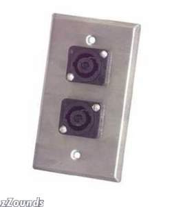 Pro Co Wall Plate with Dual Female 1/4-inch TRS (Model WP1007)