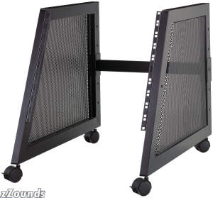 QuikLok RS510 10-Space Steel Studio Rack with Casters
