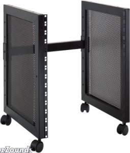 QuikLok RS513 14-Space Steel Studio Rack with Casters