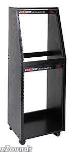 RaXXess 12-Space Over 16-Space Economy Rack (Black Oak)