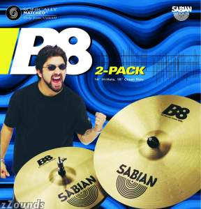 Sabian B8 2-Pack Set Cymbal Package