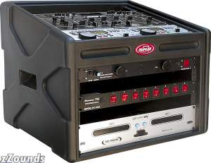 SKB 106DJ DJ Station Rack 10-Space Top, 6-Space Bottom