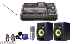 Tascam 2488neo 24-Track Workstation Recording Package