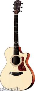 Taylor 312CE Grand Concert Cutaway Acoustic-Electric Guitar (with Case)