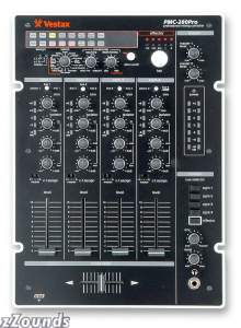 Vestax PMC280 4-Channel DJ Mixer with Effects