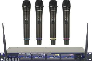 VocoPro UHF5805 4-Channel Rechargeable Handheld Wireless Microphone System