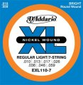 D'Addario EXL110-7 XL Electric Guitar Strings (Regular Light, 7-String, 10-59)