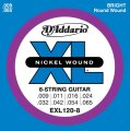 D'Addario EXL120-8 Electric Guitar Strings (Super Light, 8-String, 9-65)