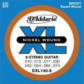 D'Addario EXL140-8 Electric Guitar Strings (Light Top/Heavy Bottom, 8-String, 10-74)