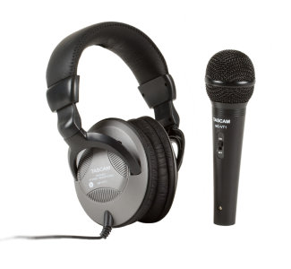Tascam Headphones and Mic