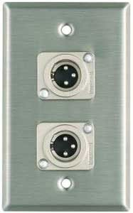 Pro Co XLR-M Wall Plate