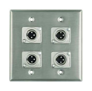 Pro Co 4 XLR-M Wall Plate