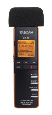 Tascam WS-DR08 Screen