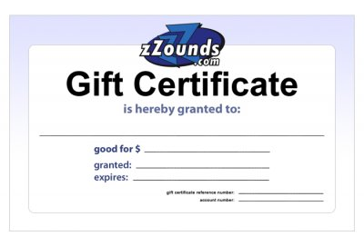 zZounds Gift Certificates